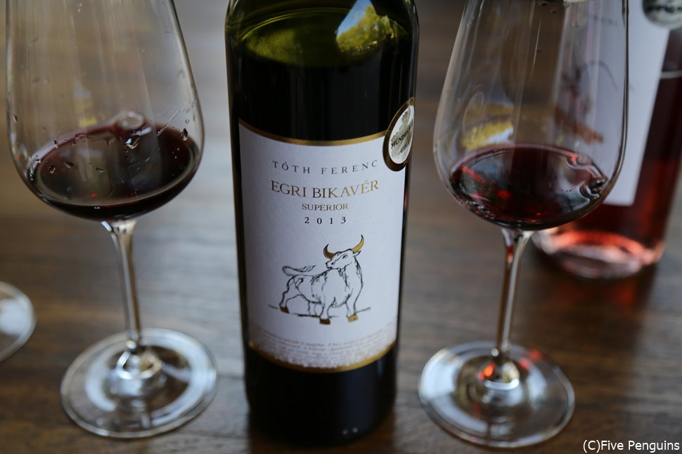 エゲルを代表するのは牡牛の血を意味するビカヴェール(Bikaver)という赤ワイン