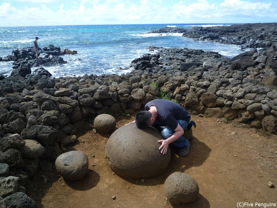 北海岸沿いにある地球のヘソという名の不思議な石