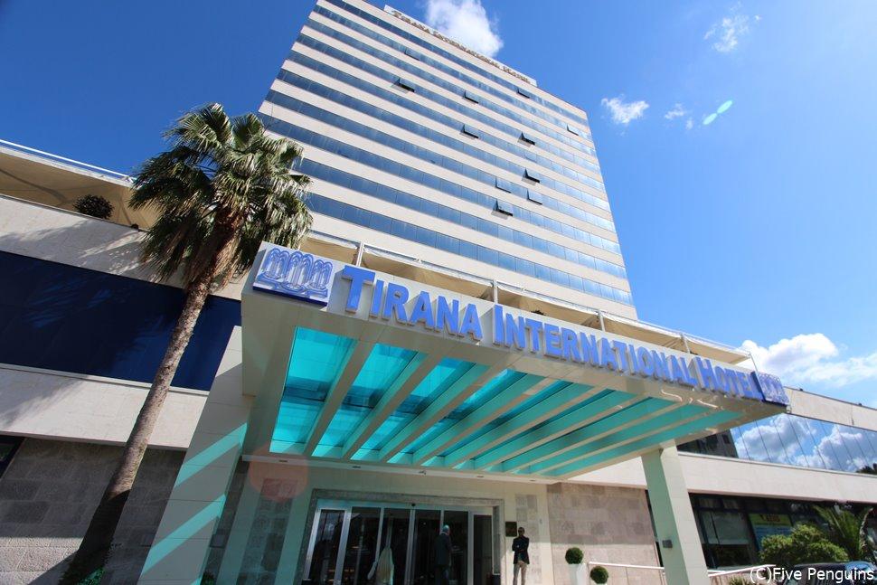 ホテル ティラナインターナショナル 首都だからこんなモダンなホテルもある
