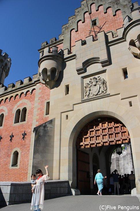 とっても大きなお城の入り口!