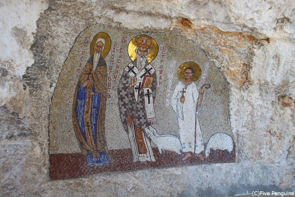 セルビア正教会・オストログ修道院の壁画