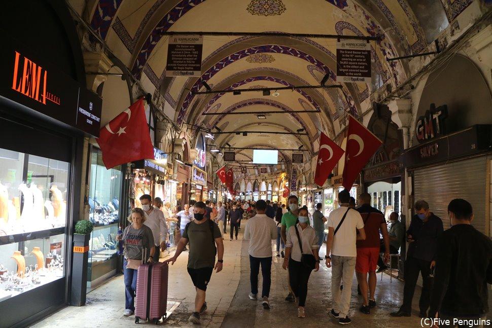 グランドバザール(イスタンブール)の様子
