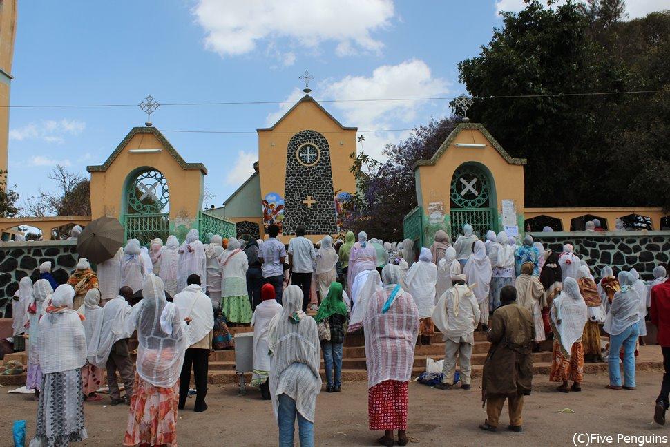 エリトリアで多数派を占めるエチオピア正教の教会(エリトリア/アスマラ)