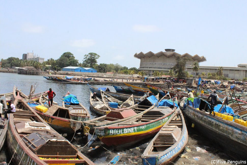コナクリの漁港