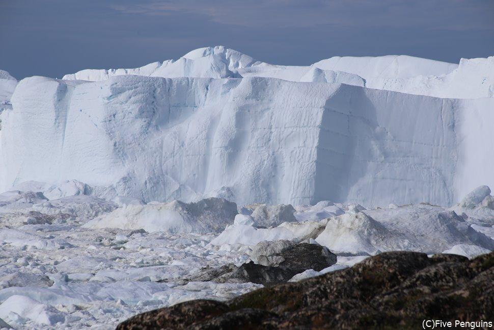 センメンミュウハイキングで見に行く氷河