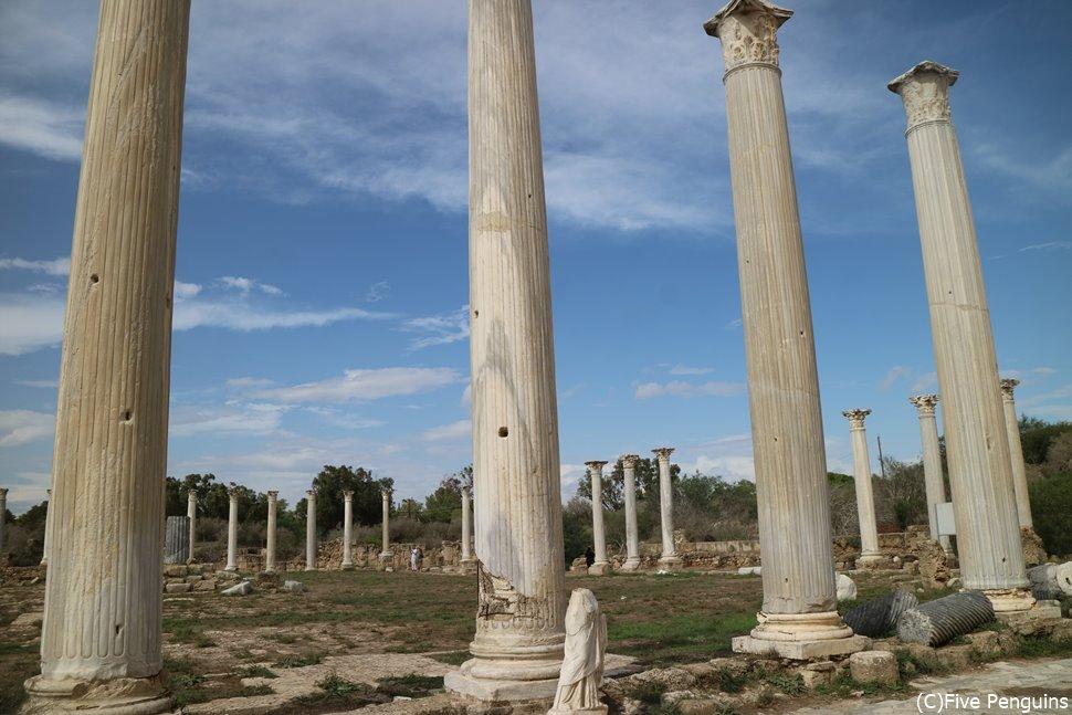 サラミス遺跡。保存状態が極めていい。