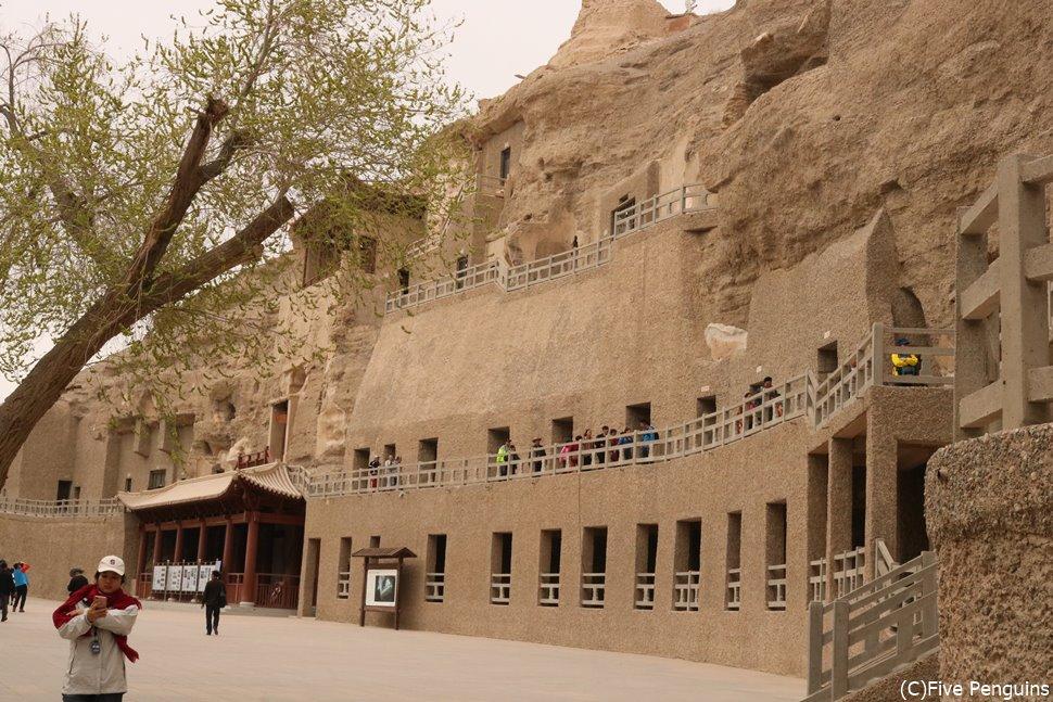 多くの石窟群 どの石窟を観光するかは基本的にガイドのセレクトによる。