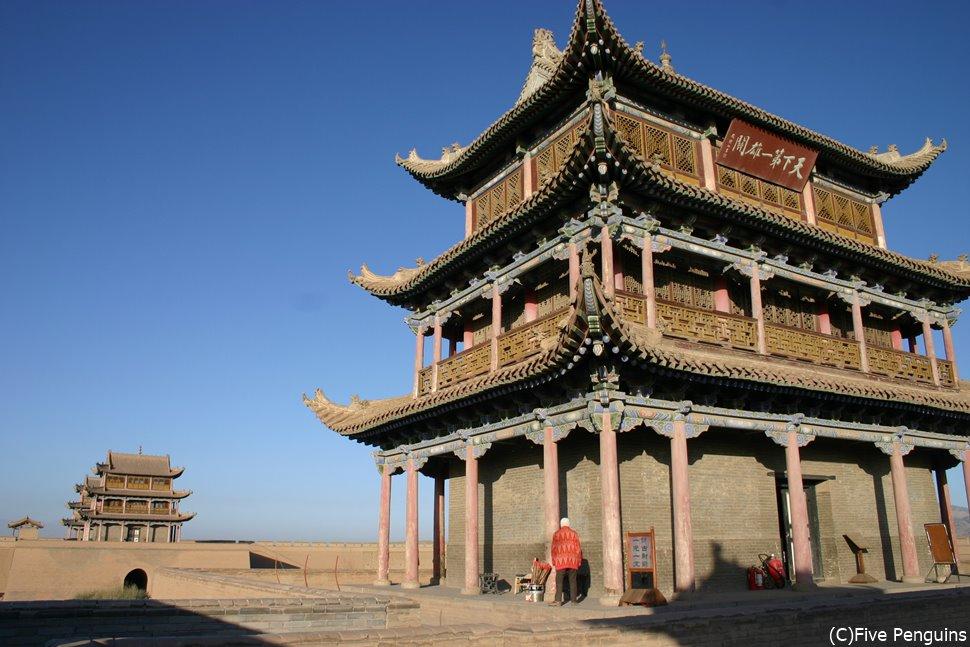 万里の長城の最西 嘉峪関