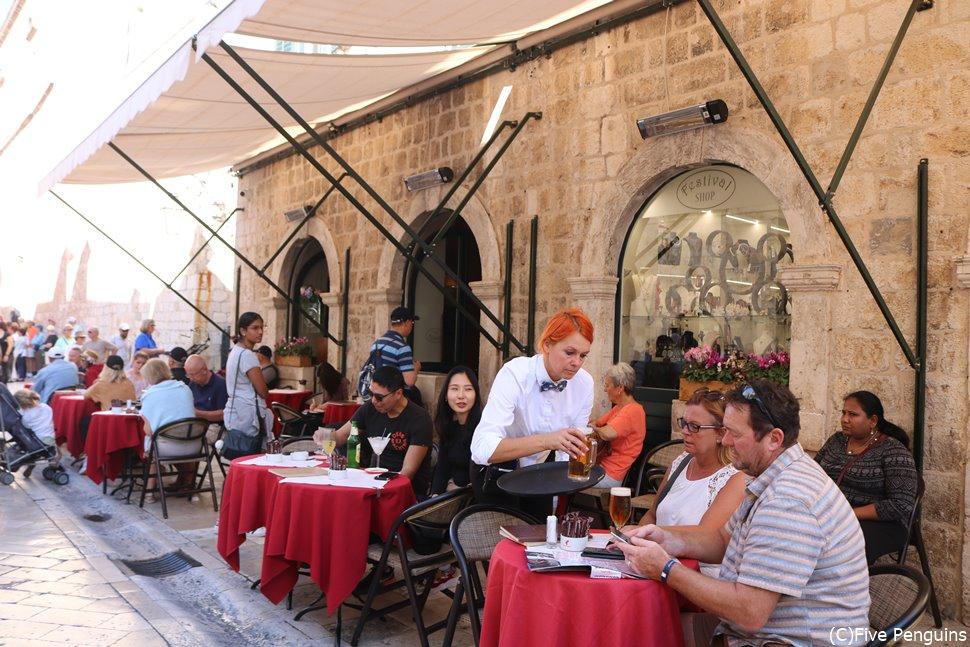 ドブロヴニク旧市街のレストラン