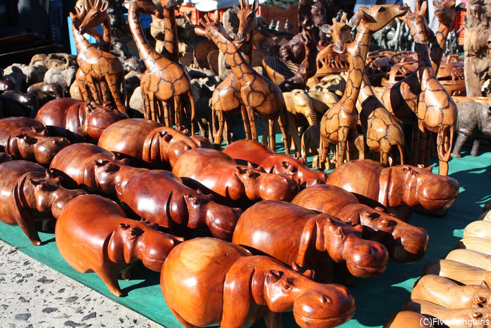 ザ・アフリカ土産 動物の置物