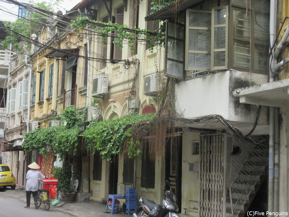 コロニアル建築の残る趣ある旧市街