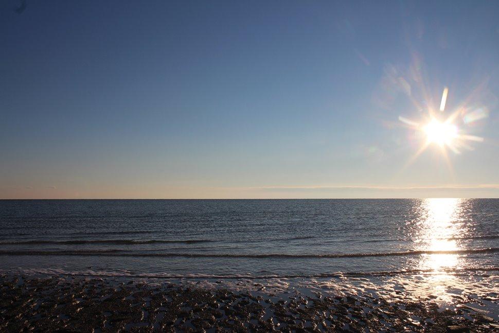アラル海の湖畔
